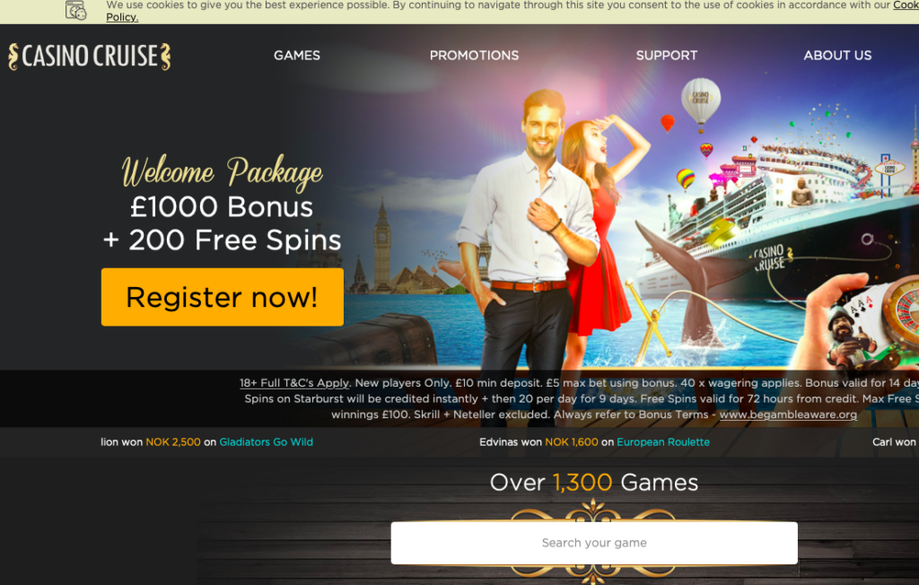 Cruise Casino online review from experts