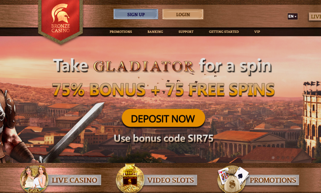 Bronze Casino No Deposit Bonus Offer UK